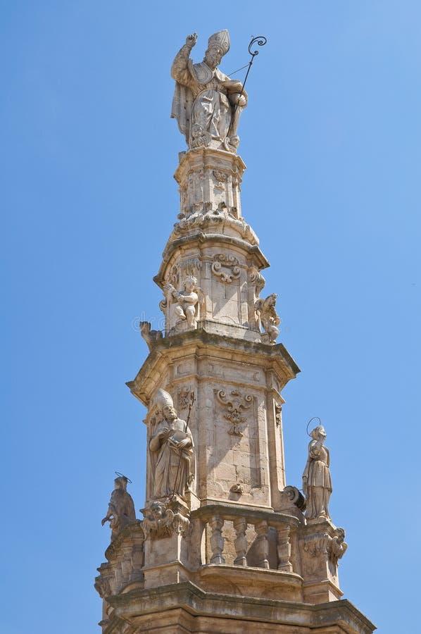 Iglica St. Oronzo. Ostuni. Puglia. Włochy. obraz royalty free