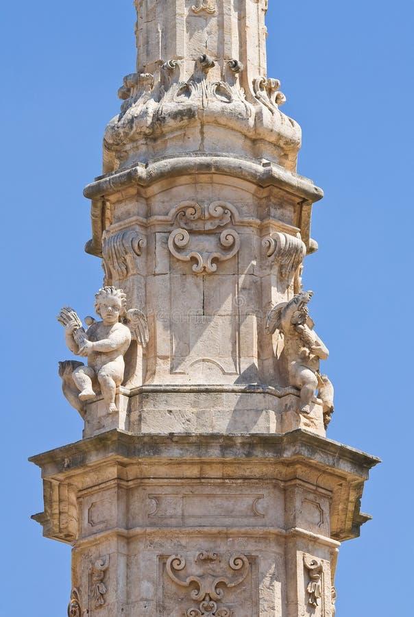 Iglica St. Oronzo. Ostuni. Puglia. Włochy. obraz stock