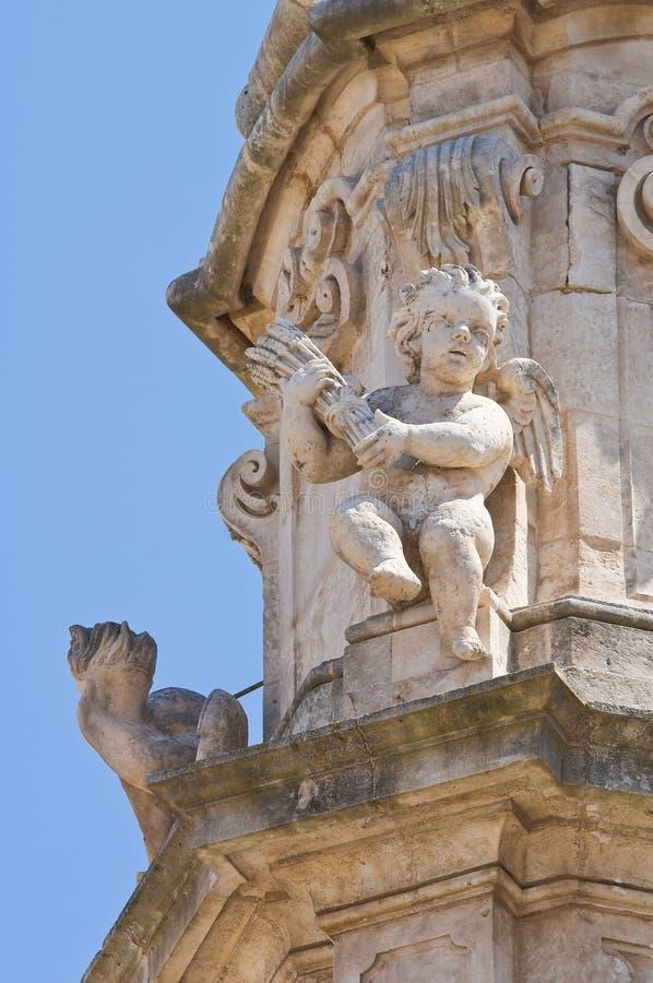 Iglica St. Oronzo. Ostuni. Puglia. Włochy. zdjęcia stock