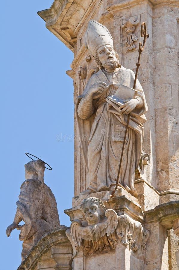 Iglica St. Oronzo. Ostuni. Puglia. Włochy. zdjęcia royalty free