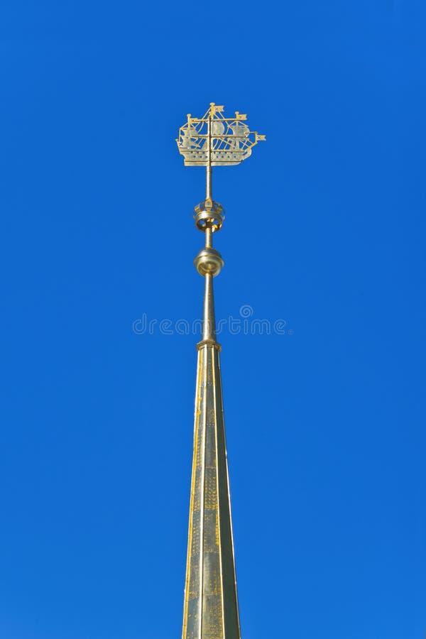 Admiralici iglica. Świątobliwy Petersburg, Rosja fotografia royalty free