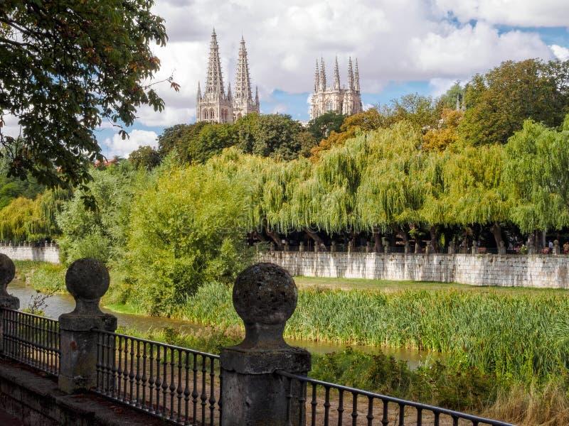 Iglicy katedra - Burgos fotografia royalty free
