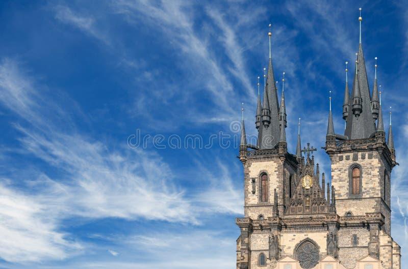 Iglicy Tyn kościół zdjęcie stock