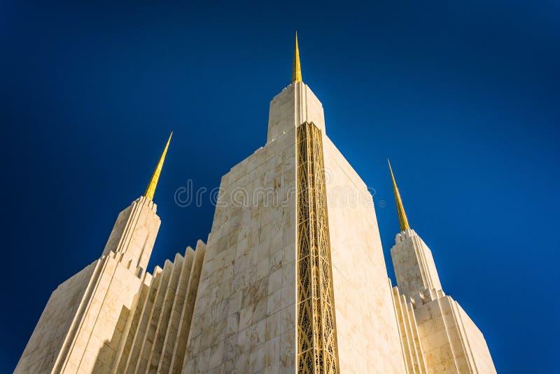 Iglicy washington dc mormonu świątynia w Kensington, Marylan obraz royalty free