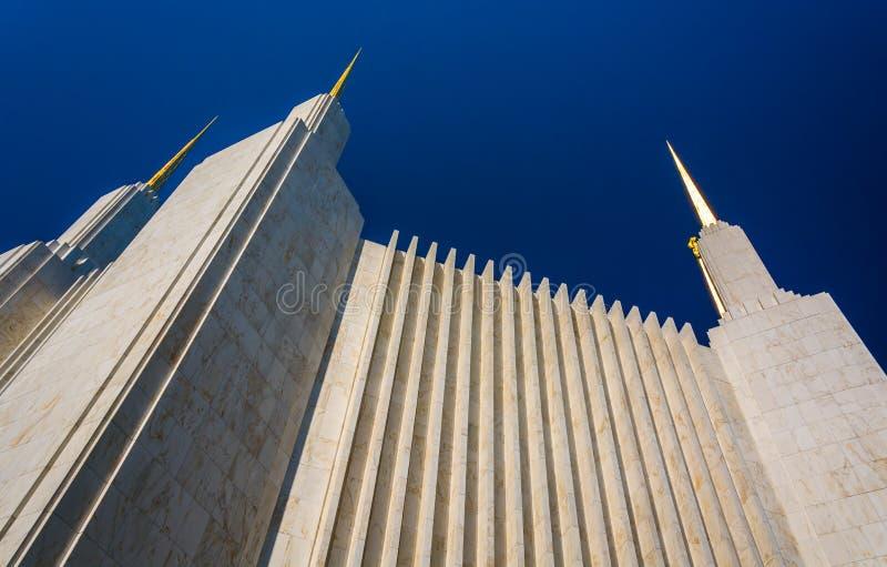 Iglicy washington dc mormonu świątynia w Kensington, Marylan obraz stock