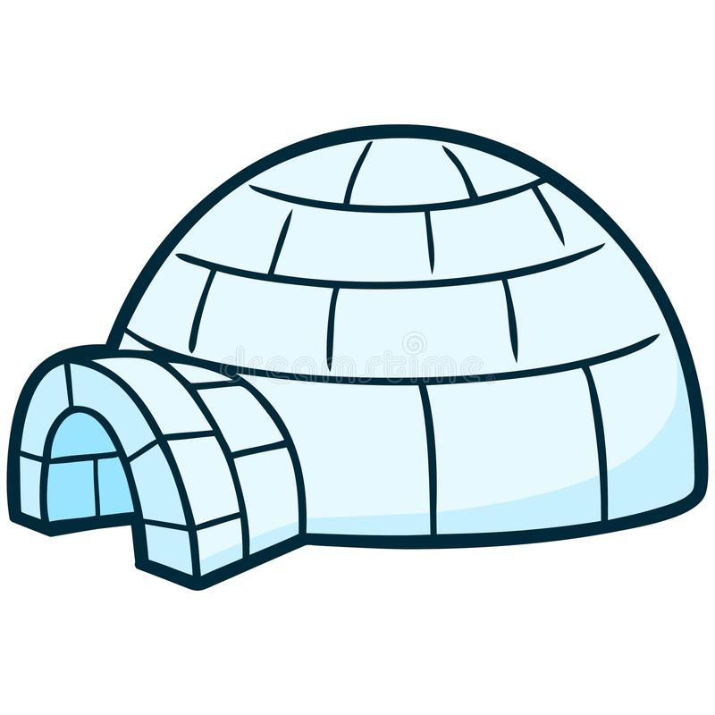 iglo royalty-vrije illustratie