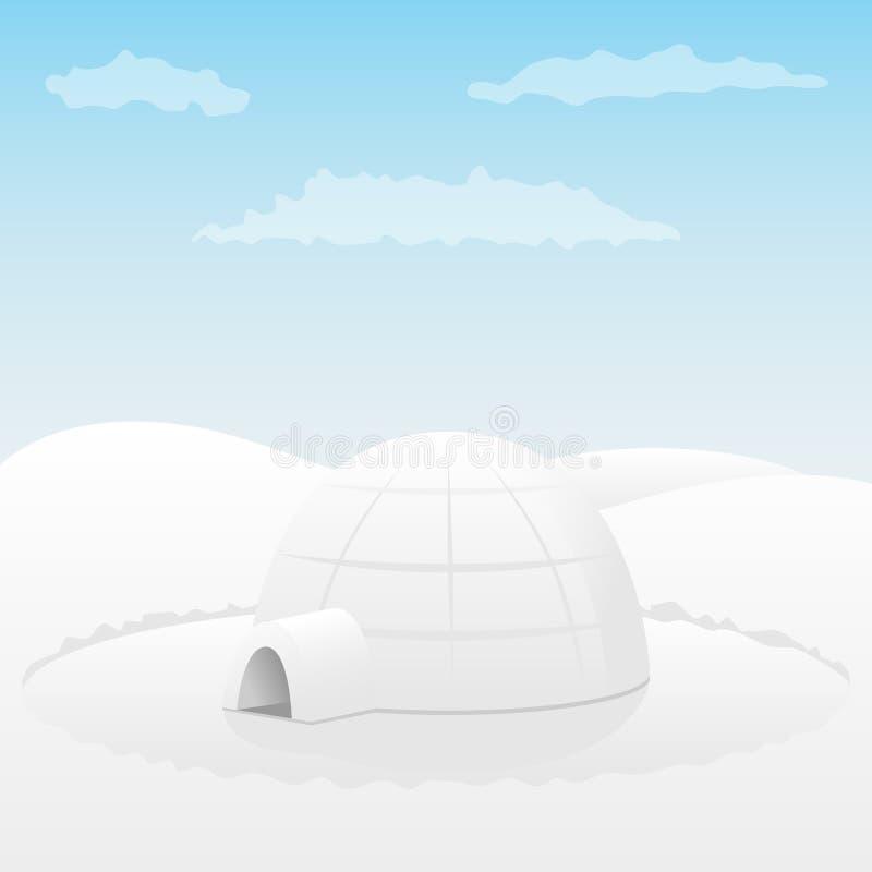 Iglo. Noordpool landschap vector illustratie