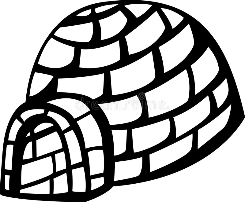 igloo royalty ilustracja