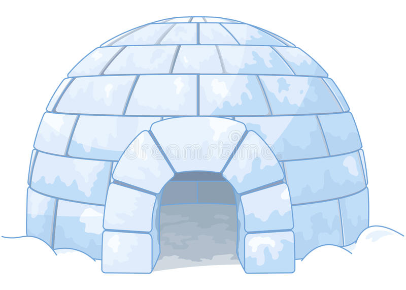 igloo royaltyfri illustrationer