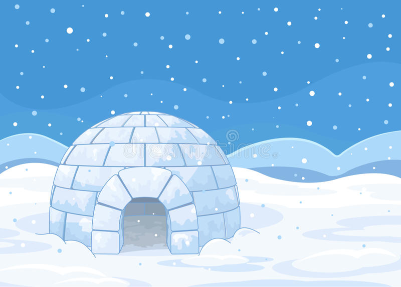 igloo stock illustrationer