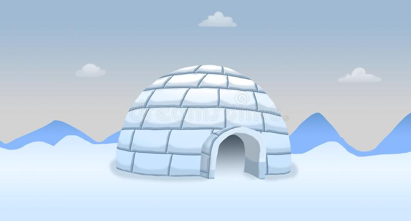Igloo de Pôle Nord images stock