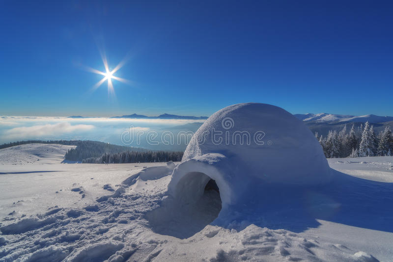 Igloo. In the high mountain royalty free stock image