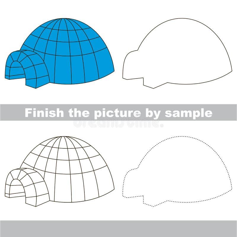 igloo Teckningsarbetssedel vektor illustrationer
