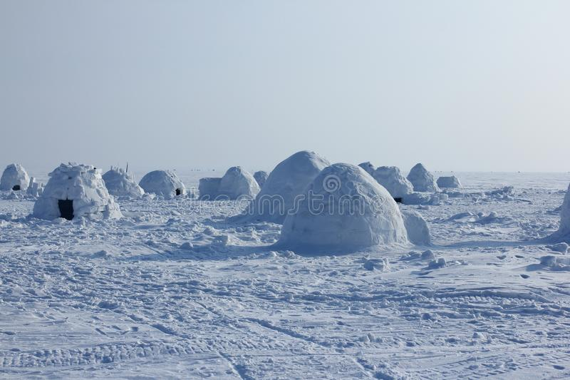 igloo Village d'Esquimaux image libre de droits