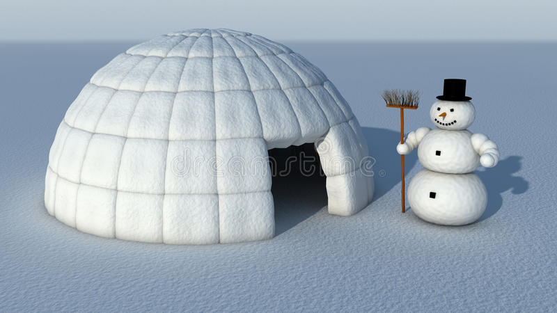 igloosnowman vektor illustrationer