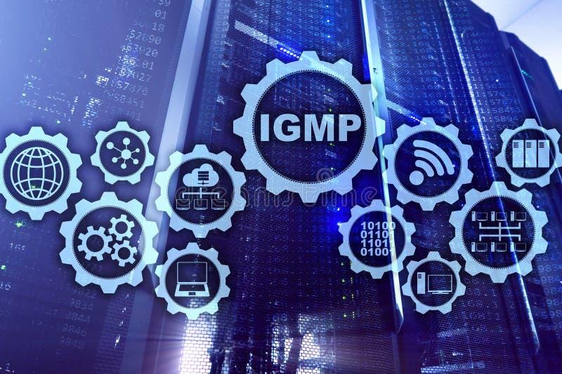 IGMP Concepto del protocolo de la gesti?n del grupo de Internet Tecnolog?a de las comunicaciones ilustración del vector