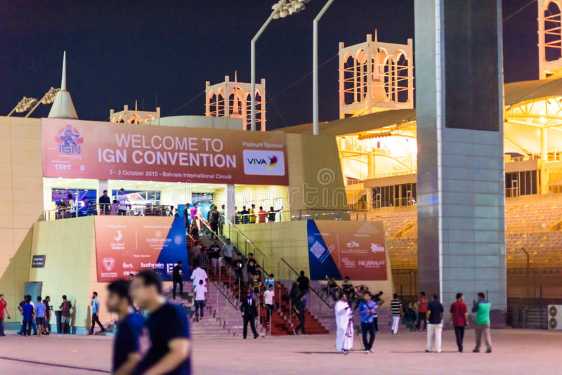 IGN Bahrain Convention 2015 stock image