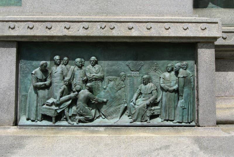 Ignace Bourget Monument, Montreal, Quebec, Canadá imagen de archivo libre de regalías