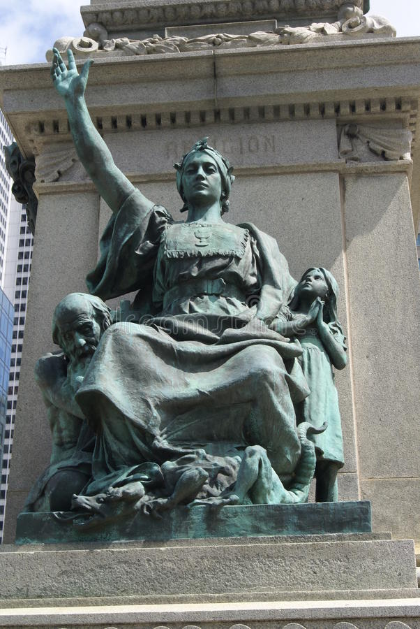 Ignace Bourget Monument a Montreal, Quebec, Canada fotografia stock libera da diritti