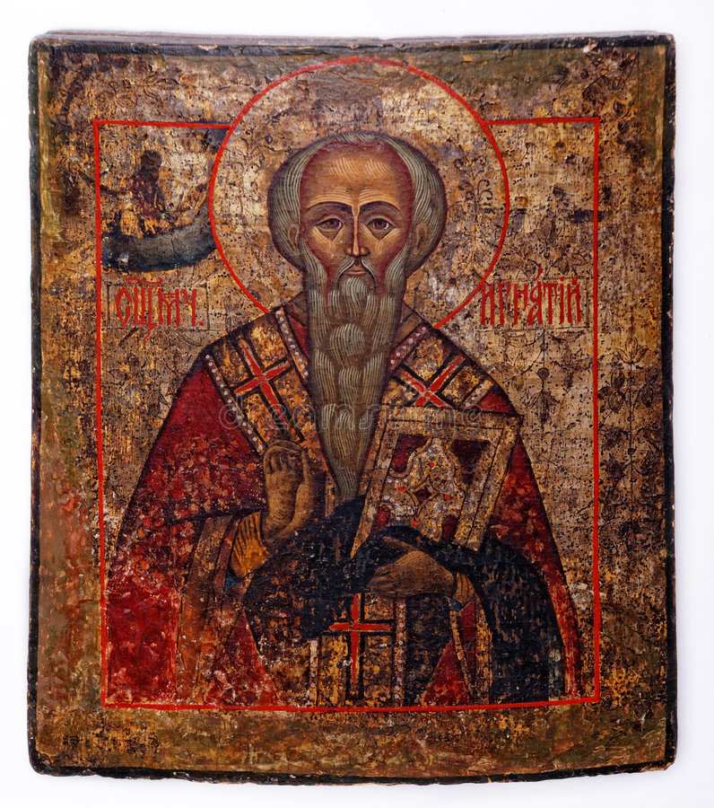 Ignatius Of Antioch. Ancient church icon. One of attributes of christian religion royalty free stock photo
