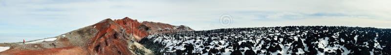 Panorama of the Avachinsky volcano top. Kamchatka Krai stock images