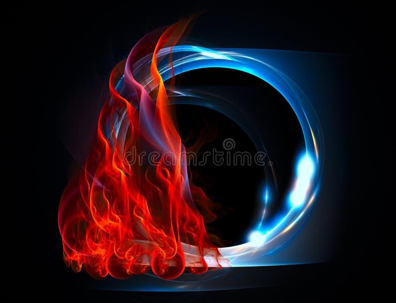 Ignición de la forma azul translúcida del extracto ilustración del vector