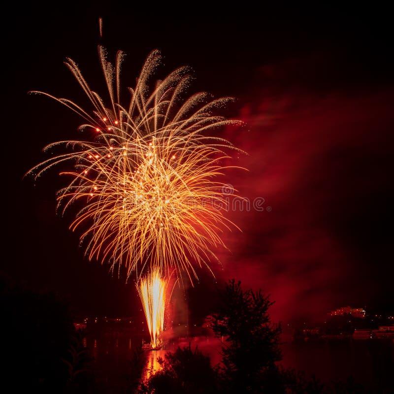 Ignis Brunensis 2018 Fireworks Festival stock photo