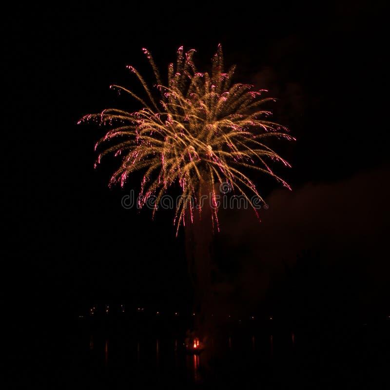 Ignis Brunensis 2018 fogos de artifício foto de stock royalty free