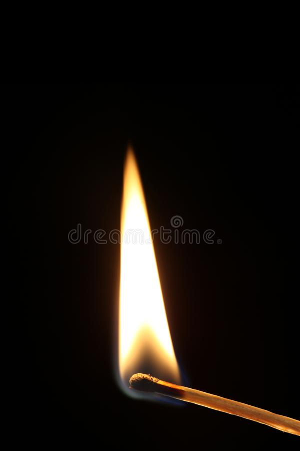 Free Ignited Match With Flame Isolated On Black Background With Black Background Royalty Free Stock Images - 119307129