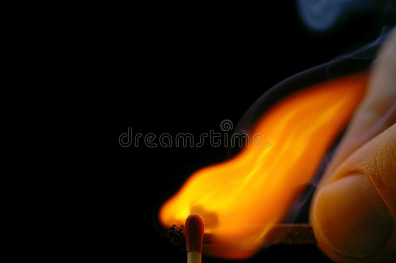 Igniting Match from Match royalty free stock images