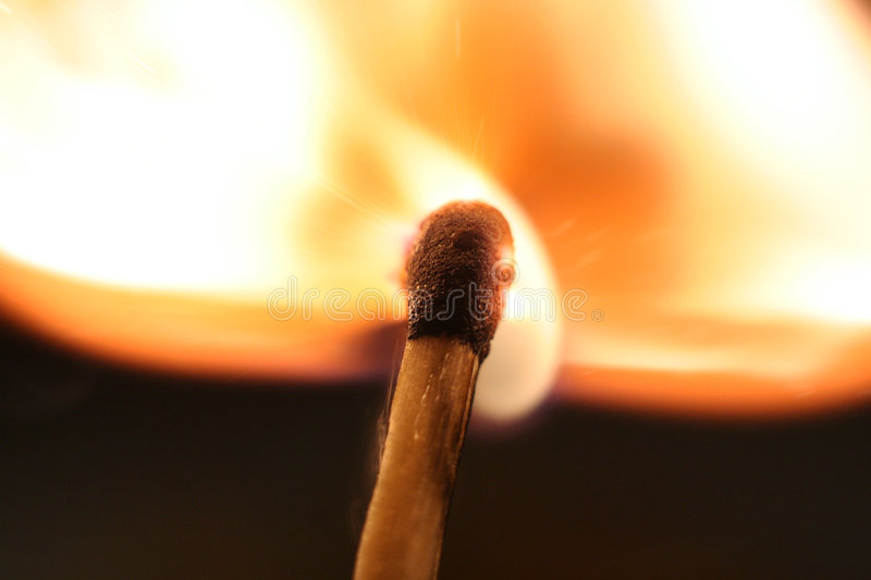 Ignition of a match royalty free stock photography
