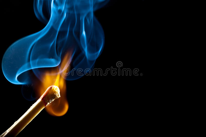 Download Ignition Of Match With Smoke Stock Photo - Image: 16325422