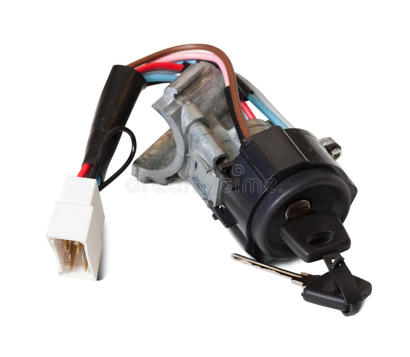 Download Ignition Switch With Ignition Key Stock Photo - Image: 17300112