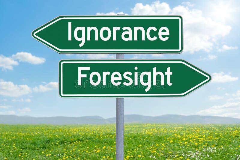 Ignorance ou prévoyance photo stock
