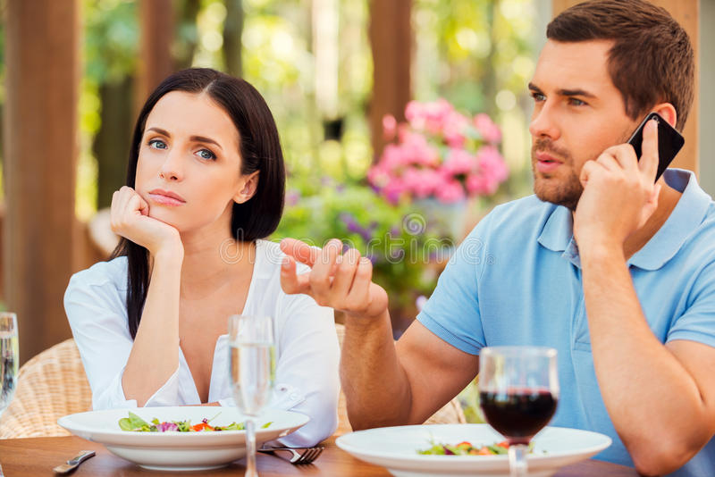 Download He always ignoring me. stock photo. Image of dating, camera -  43466560