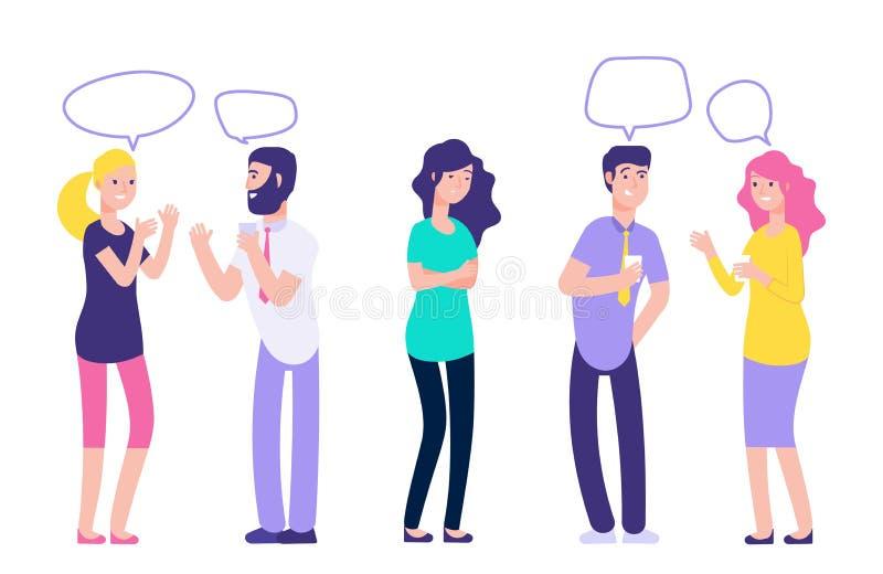 Ignoring in a team. Chatting couples disregard sad woman vector illustration vector illustration
