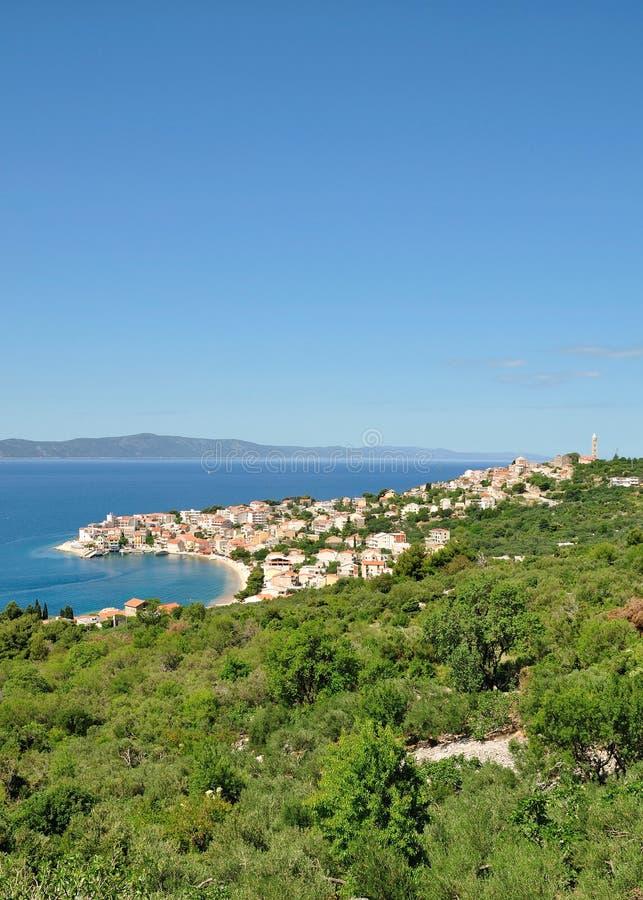 Igrane, Makarska la Riviera, Mer Adriatique, Croatie photos stock