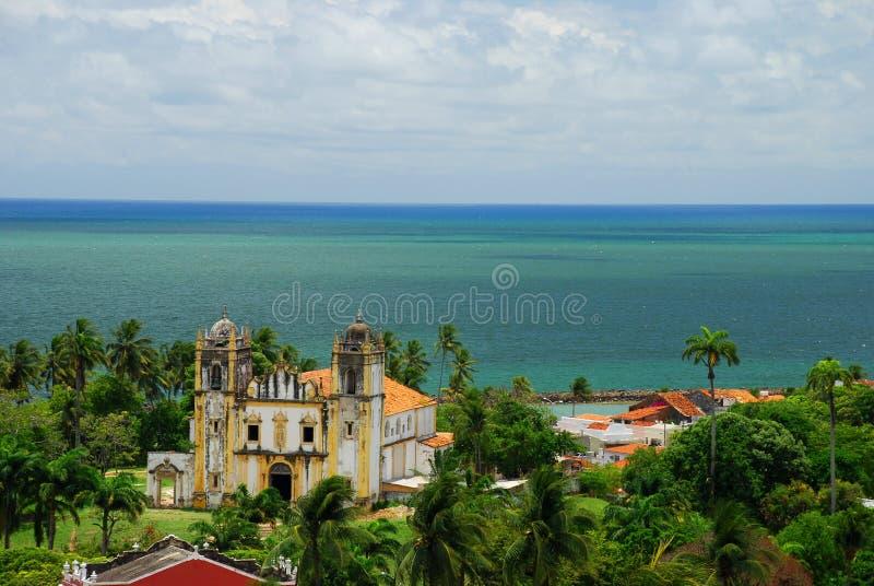 Igreja诺萨Senhora做卡尔穆。奥林达, Pernambuco,巴西 免版税图库摄影