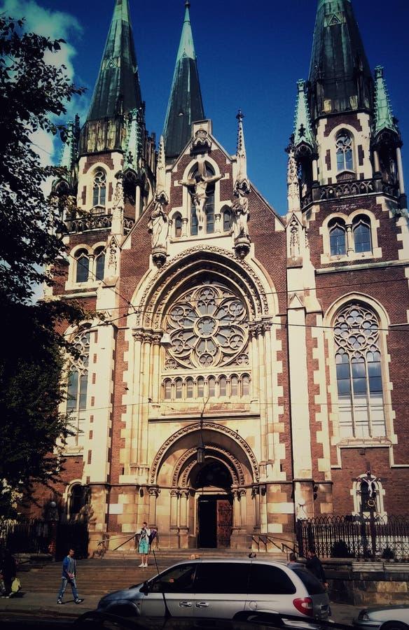 A igreja é a cidade de lviv fotografia de stock