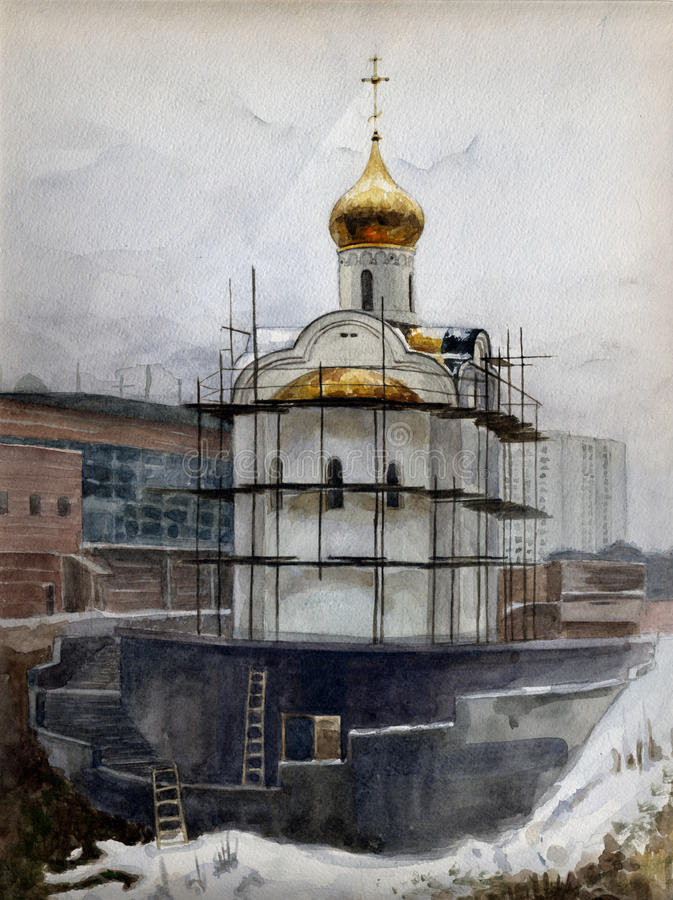 A igreja ilustração royalty free