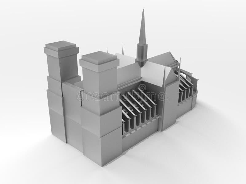 igreja 3D ilustração do vetor