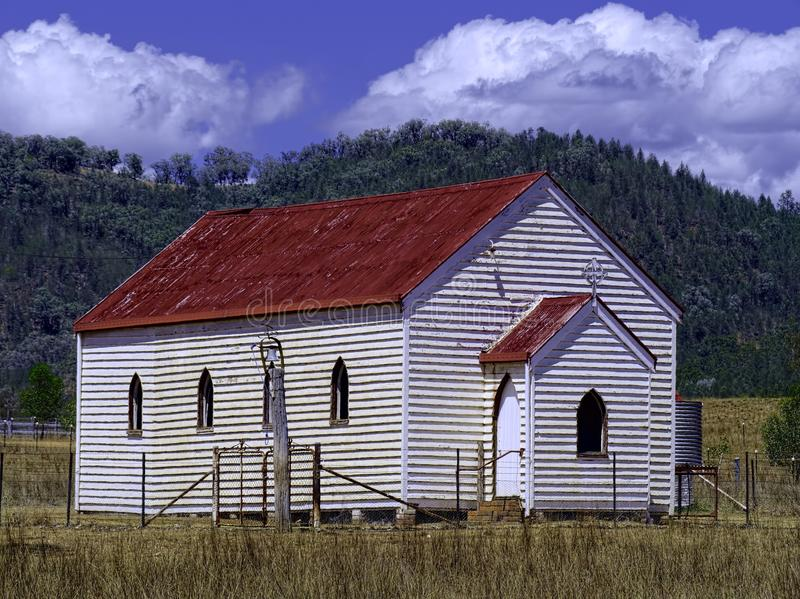 Igreja abandonada em Austrália rural foto de stock royalty free