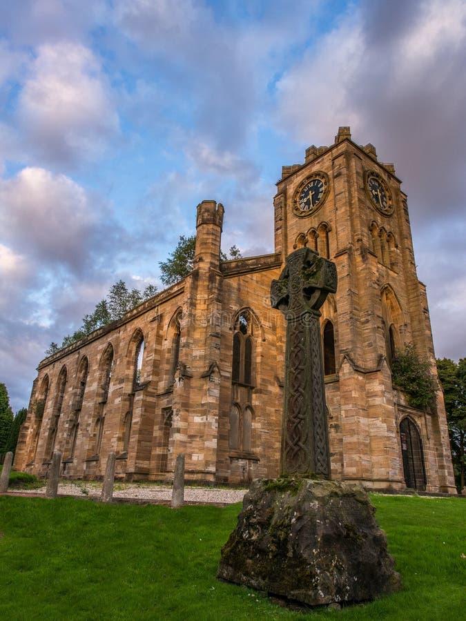 Igreja alta de Campsie foto de stock
