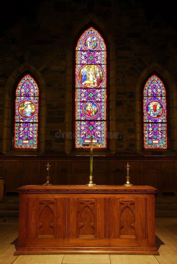 A igreja altera-se imagem de stock