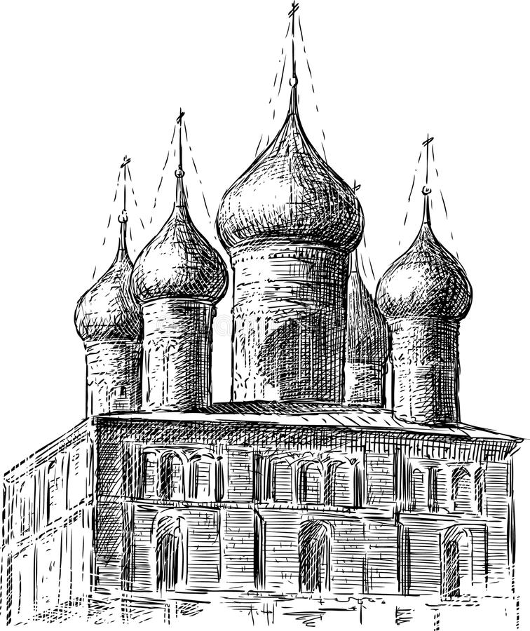 Igreja antiga ilustração royalty free