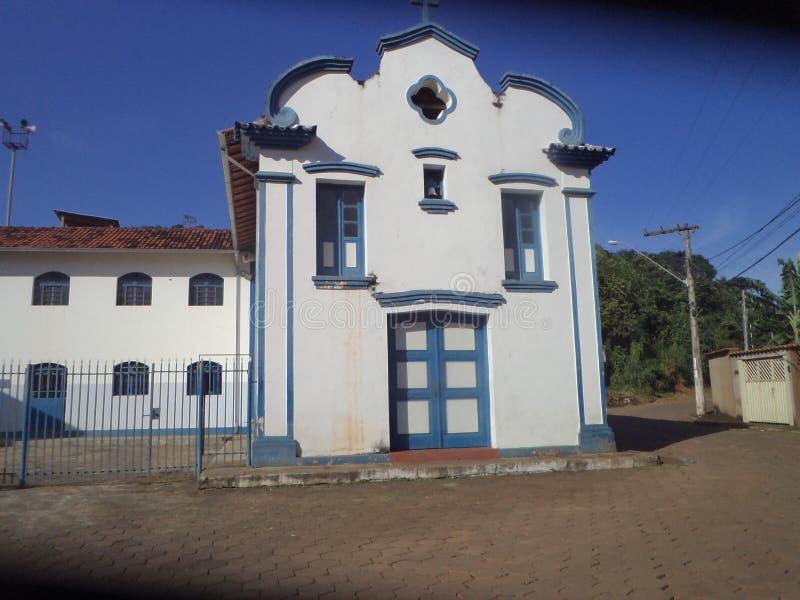 Church in Barrão de Cocais. Church of the Rosary, historical patrimony in Barrão de Cocais city of the interior of Minas Gerais royalty free stock photo
