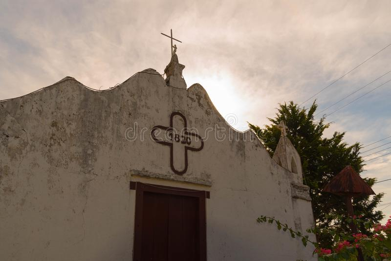 A igreja antiga da arquitetura portuguesa 03 fotos de stock