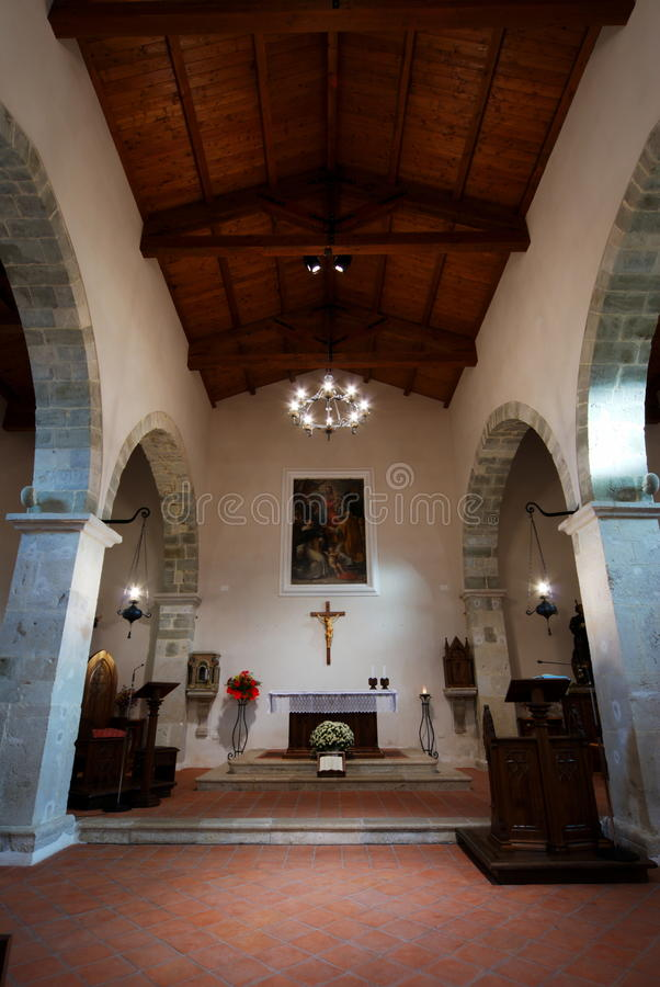 Igreja antiga de Faifoli para dentro imagem de stock royalty free