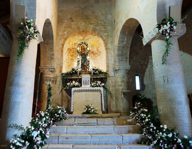 Igreja antiga do della Strada de Santa Maria para dentro fotos de stock