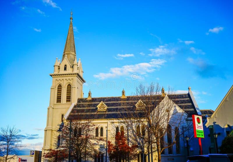 Igreja antiga em Auckland, Nova Zelândia imagem de stock